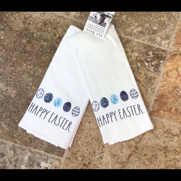 Rae Dunn Kitchen Towel Set of 2 HAPPY EASTER